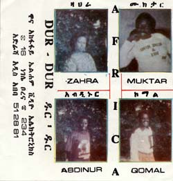 Cover of cassette 'Africa' from Dur Dur