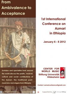Poster of First International Conference on Azmari in Ethiopia